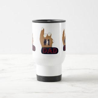 #1 Dad Ebony Teak Travel Mug