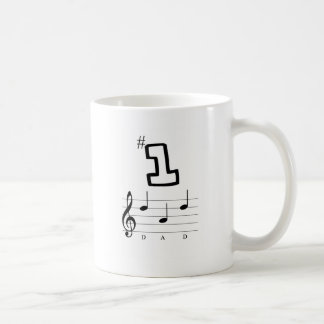 #1 Dad in Musical Notation Coffee Mug