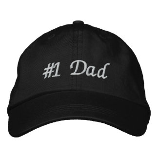 #1 Dad (Number One Dad) Father's Day Embroidered Hat