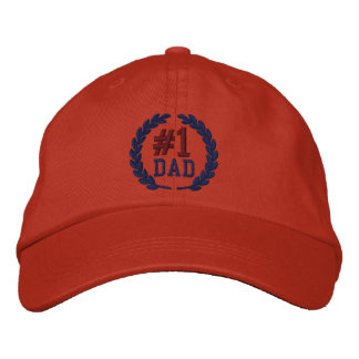 #1 DAD Number One Embroidery Embroidered Baseball Caps
