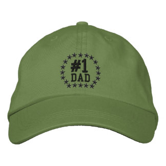 #1 DAD Number One Stars Embroidery Embroidered Hat