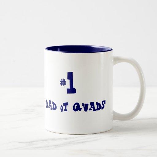 #1 dad of quads mug