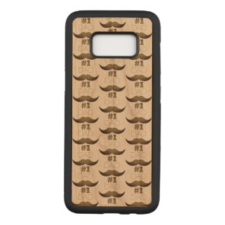 #1 Dad Rustic Brown Mustache - Number One Carved Samsung Galaxy S8 Case
