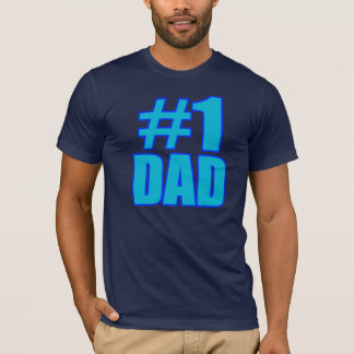 #1 dad t-shirt for father