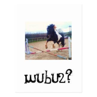 1- Denzel Jumping wubu2 Postcard