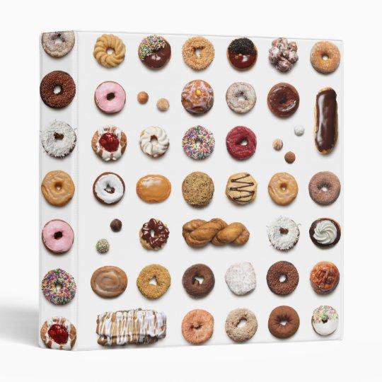 """1"""" Dotty Doughnuts 3-ring binder, white 3 Ring Binder"""