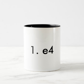 1. e4 Two-Tone coffee mug