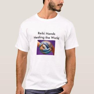 1_edited, Reiki Hands Healing the World T-Shirt