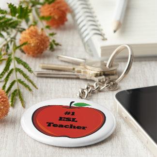 #1 Esl Teacher Keychain