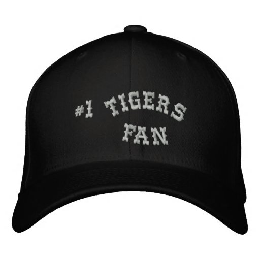 #1 Fan Black and Silver Basic Flexfit Wool Embroidered Baseball Cap