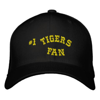 #1 Fan Black and Yellow Gold Basic Flexfit Wool Embroidered Baseball Cap
