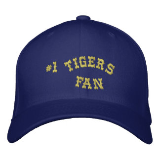 #1 Fan Blue and Gold Basic Flexfit Wool Embroidered Baseball Caps