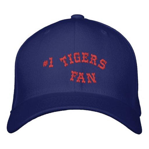 #1 Fan Blue and Red Basic Flexfit Wool Baseball Cap
