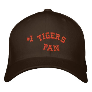 #1 Fan Brown and Orange Basic Flexfit Wool Embroidered Hats