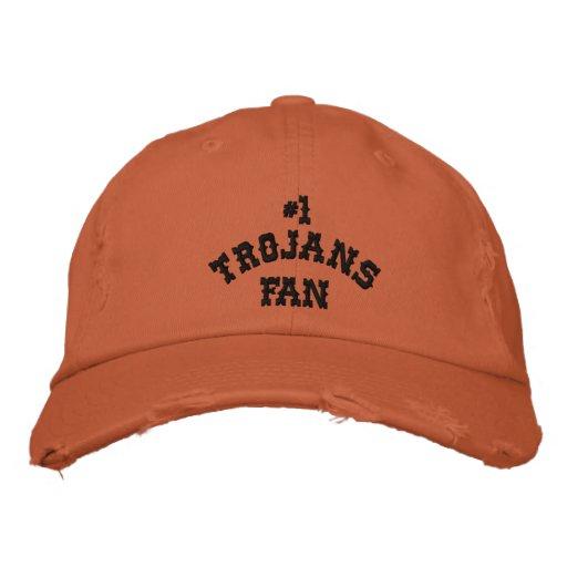 #1 Fan Burnt Orange and Black Twill Cap Embroidered Baseball Caps