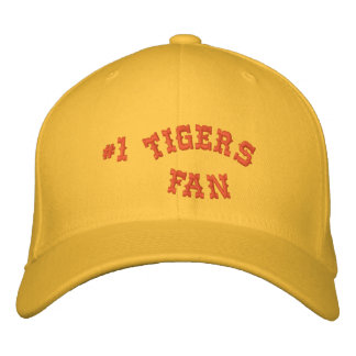 1 Fan Gold and Orange Basic Flexfit Wool Embroidered Baseball Cap