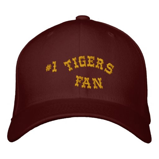 #1 Fan Maroon and Gold Basic Flexfit Wool Embroidered Hat