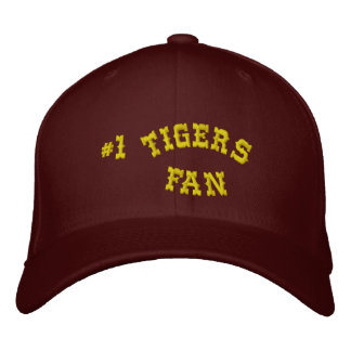 #1 Fan Maroon and Yellow Gold Basic Flexfit Wool Baseball Cap