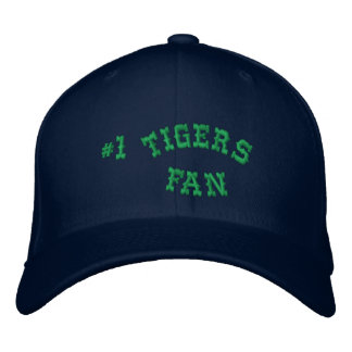 #1 Fan Navy and Green Basic Flexfit Wool Embroidered Hats