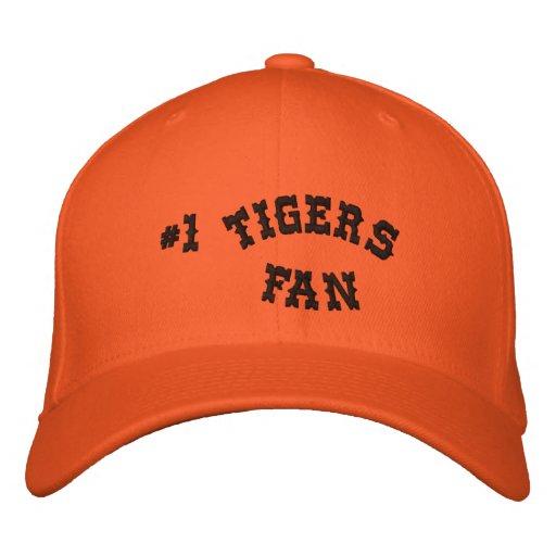 #1 Fan Orange and Black Basic Flexfit Wool Embroidered Baseball Caps