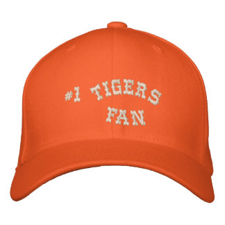 #1 Fan Orange and Cream Basic Flexfit Wool Embroidered Hat