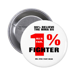 1%FIGHTER 2 INCH ROUND BUTTON