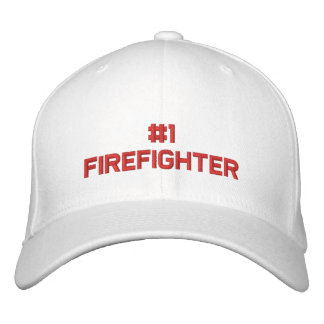 #1 Firefighter Embroidered Hat