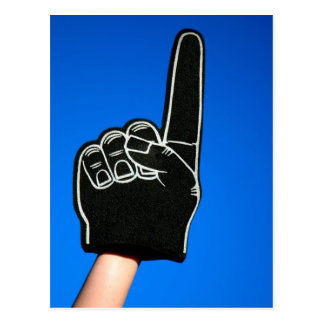 #1 Foam Finger Postcard