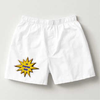 #1 Foster Dad Super Hero Design Boxers