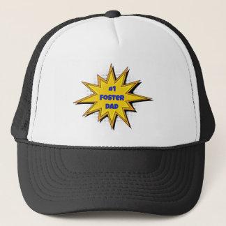 #1 Foster Dad Super Hero Design Trucker Hat