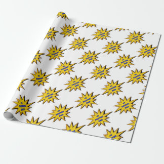 #1 Foster Dad Super Hero Design Wrapping Paper