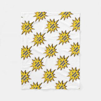 #1 Foster Mom Super Hero Design Fleece Blanket