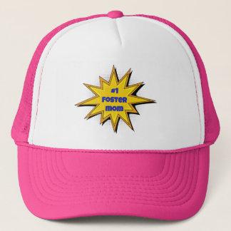 #1 Foster Mom Super Hero Design Trucker Hat