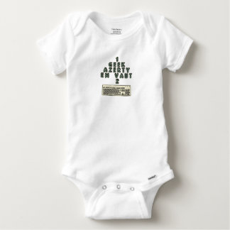 1 GEEK AZERY is worth 2 of them - Plays of motsT Baby Onesie