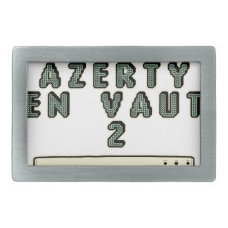 1 GEEK AZERY is worth 2 of them - Plays of motsT Rectangular Belt Buckle