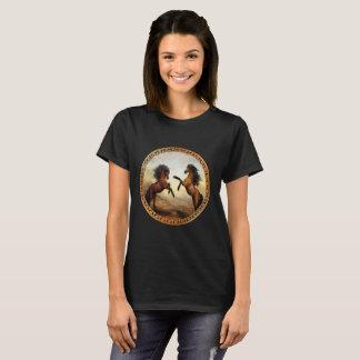 1 gold frame horses T-Shirt