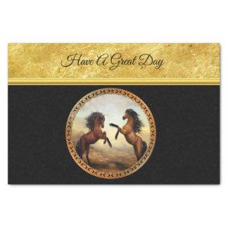 1 gold frame horses tissue paper