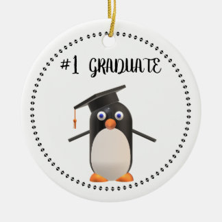 #1 Graduate Ceramic Ornament