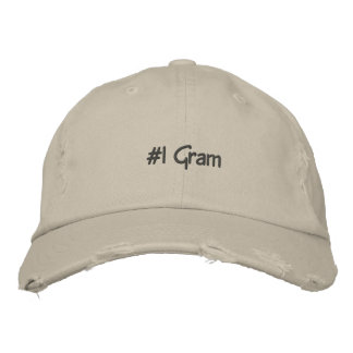 #1 Gram Embroidered Custom Cap
