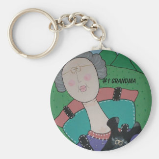 #1 Grandma key chain