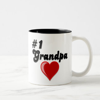 #1 Grandpa - Grandparent's Day Two-Tone Coffee Mug