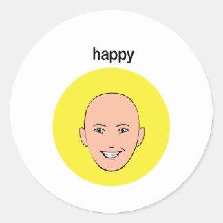 1 happy classic round sticker