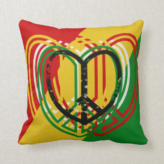 1 Heart Peace Sign Rastah Skateboard Decor Pillow