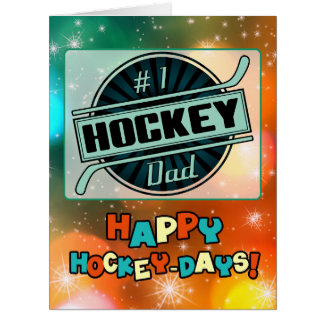 #1 Hockey Dad Christmas Card