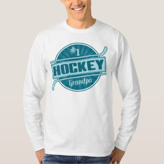 #1 Hockey Grandpa Long Sleeved Tee