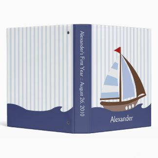 1-inch Adorable Nautical Sailboat Custom Binder