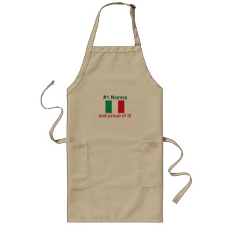 #1 Italian Nonna and proud of it! Gift Long Apron