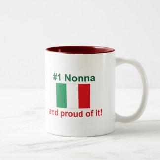 #1 Italian Nonna (Grandmother) Two-Tone Coffee Mug