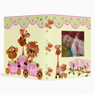 "1"" It's A Baby Girl Photo Album 3 Ring Binder"