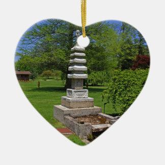 1 Joe and Marie Schedel Pagoda-horizontal.JPG Ceramic Heart Ornament